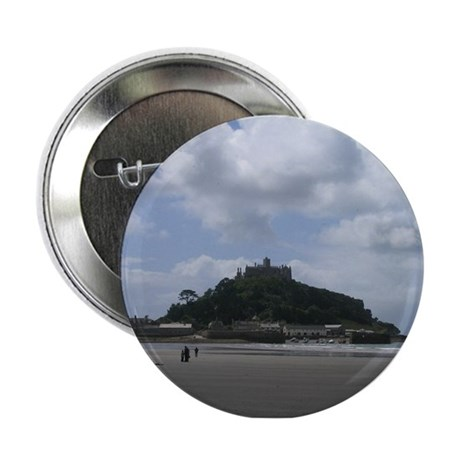 """St. Michael's Mount, Cornwall 2.25"""" Button"""