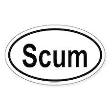 SCUM Oval Decal