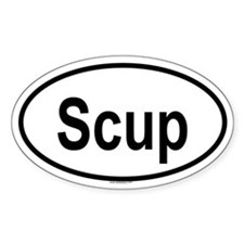 SCUP Oval Decal