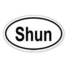 SHUN Oval Decal
