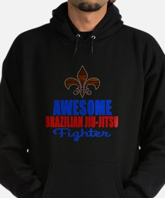 Awesome Brazilian Jiu Jitsu Fighter Hoodie (dark)