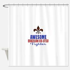 Awesome Brazilian Jiu Jitsu Fighter Shower Curtain