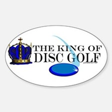 King of Disc Golf2 Oval Decal