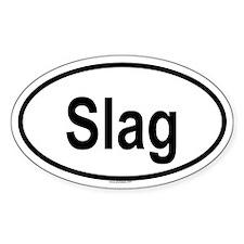 SLAG Oval Decal