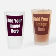 Add Your Image Here Drinking Glass