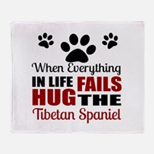 Hug The Tibetan Spaniel Throw Blanket