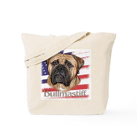 Bullmastiff - flag Tote Bag