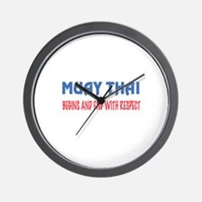 Muay Thai Begins and end with respect Wall Clock