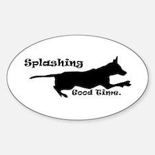 Splashing Good Time. Oval Decal