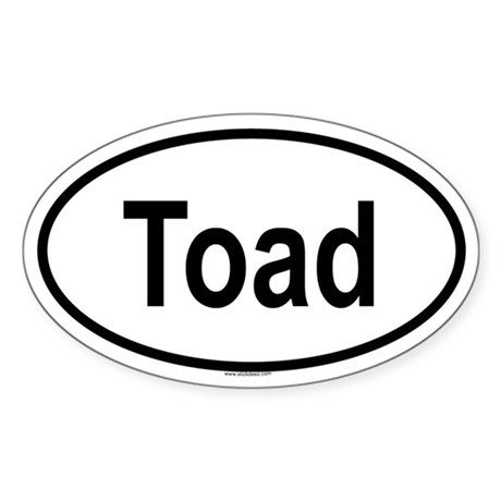 TOAD Oval Sticker