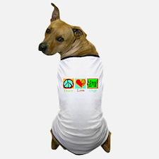 Peace Love Dogs Dog T-Shirt