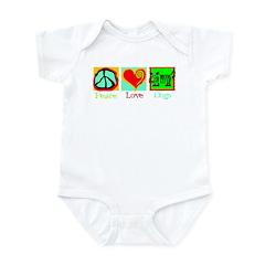 Peace Love Dogs Infant Bodysuit