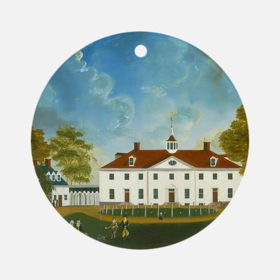 A View of Mount Vernon Round Ornament