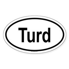 TURD Oval Decal