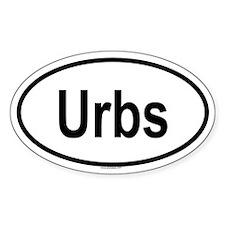 URBS Oval Decal