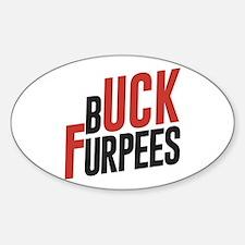 Buck Furpees Sticker (Oval)