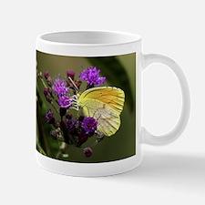 Clouded Sulfur Butterfly on Ironweed Mug