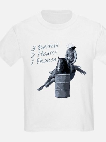 3 Barrels 2 hearts 1 passion. T-Shirt