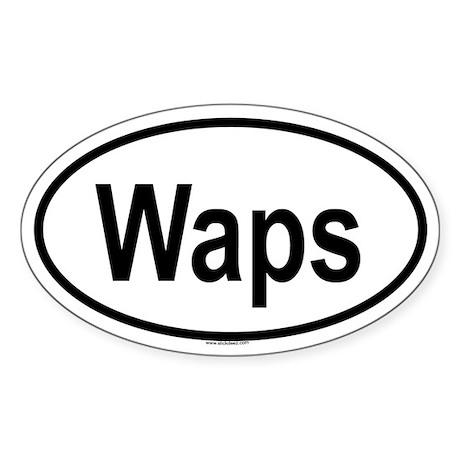 WAPS Oval Sticker
