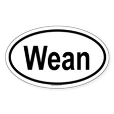WEAN Oval Decal