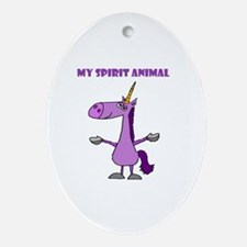 Funny Spirit guide Oval Ornament