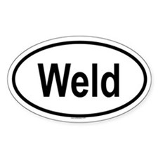 WELD Oval Decal