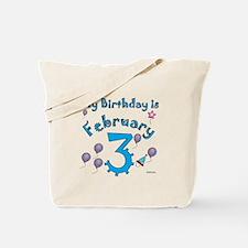 February 3rd Birthday Tote Bag
