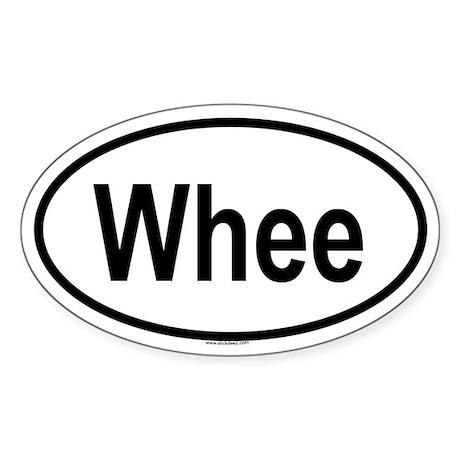 WHEE Oval Sticker