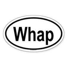 WHAP Oval Decal