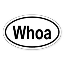 WHOA Oval Decal