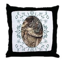 Unique White rabbit Throw Pillow