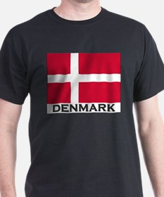 Flag of Denmark Ash Grey T-Shirt