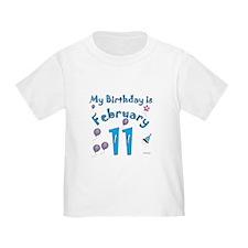 February 11th Birthday T