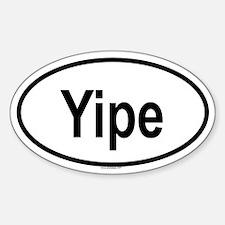 YIPE Oval Decal
