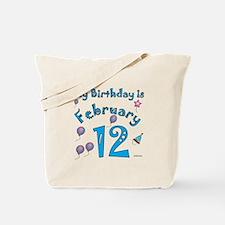 February 12th Birthday Tote Bag