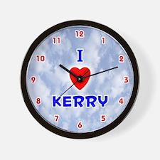 I Love Kerry (Red/Bl) Valentine Wall Clock
