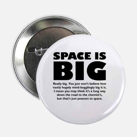 """Unique Hitchhikers guide to the galaxy 2.25"""" Button"""