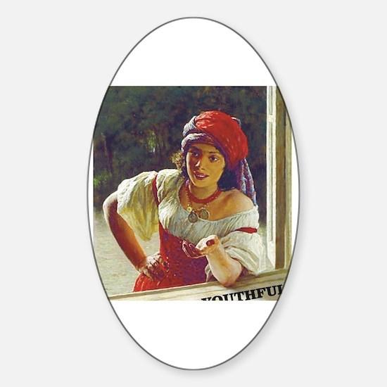 Unique Gypsy girl Sticker (Oval)