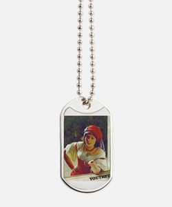 Cute Gypsy girl Dog Tags