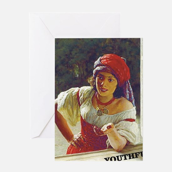 Cute Gypsy girl Greeting Card