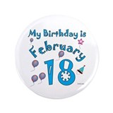 18th birthday buttons Single