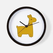 Mabel Llama Wall Clock