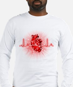 Heart and ECG - Long Sleeve T-Shirt