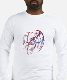 Coronary vessels of the heart Long Sleeve T-Shirt