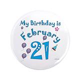 21 birthday button Single
