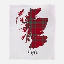Map - Kyle Throw Blanket