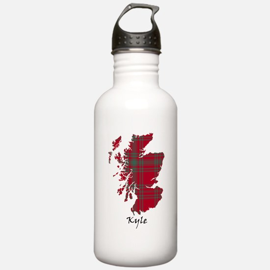 Map - Kyle Sports Water Bottle