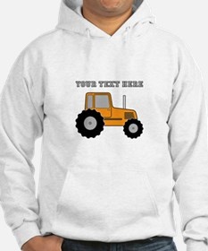 Personalized Orange Tractor Hoodie