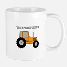 Personalized Orange Tractor Mug