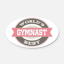 gymnast Oval Car Magnet